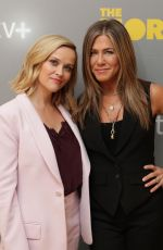 JENNIFER ANISTON and REESE WITHERSPOON at Apple TV + Conference 10/13/2019