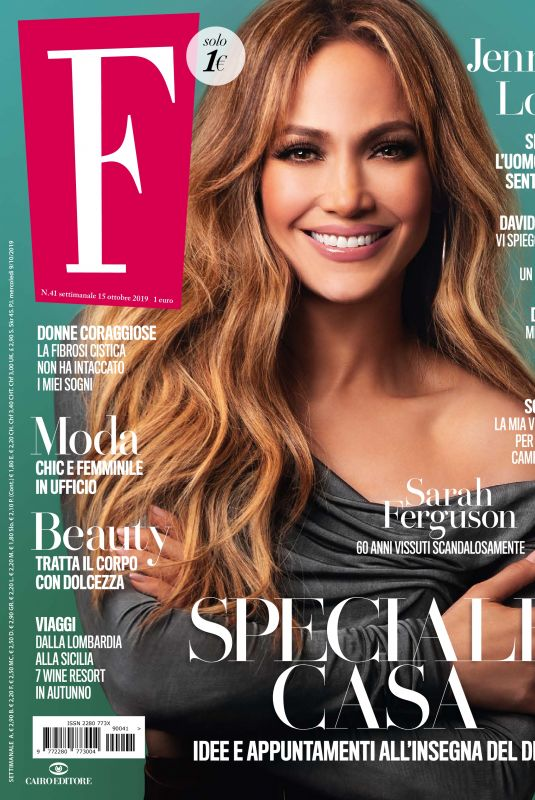 JENNIFER LOPEZ in F Magazine, October 2019