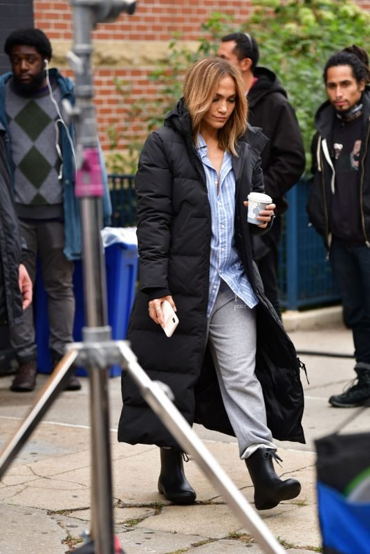 JENNIFER LOPEZ on the Set of Marry Me in New York 10/10/2019