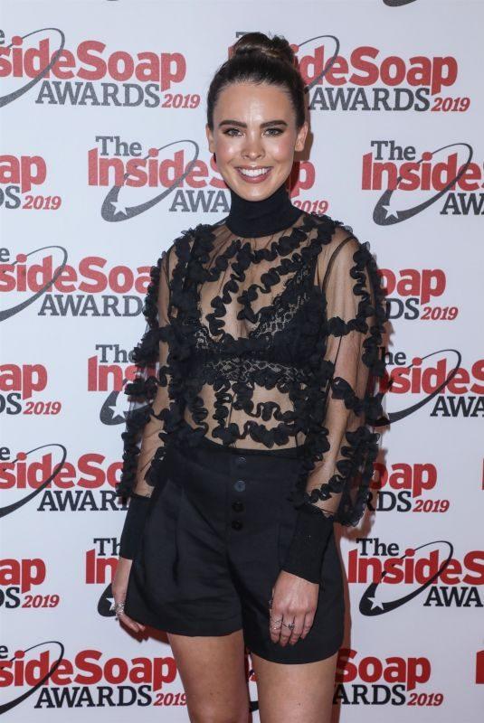JESSAMY STODDART at Inside Soap Awards 2019 in London 10/07/2019