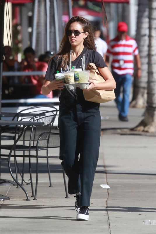 JESSICA ALBA Out in Beverly Hills 10/05/2019