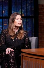 JESSICA BIEL at Late Night with Seth Meyers in New York 10/23/2019