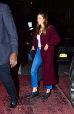 JESSICA BIEL Out for Dinner in New York 10/23/2019