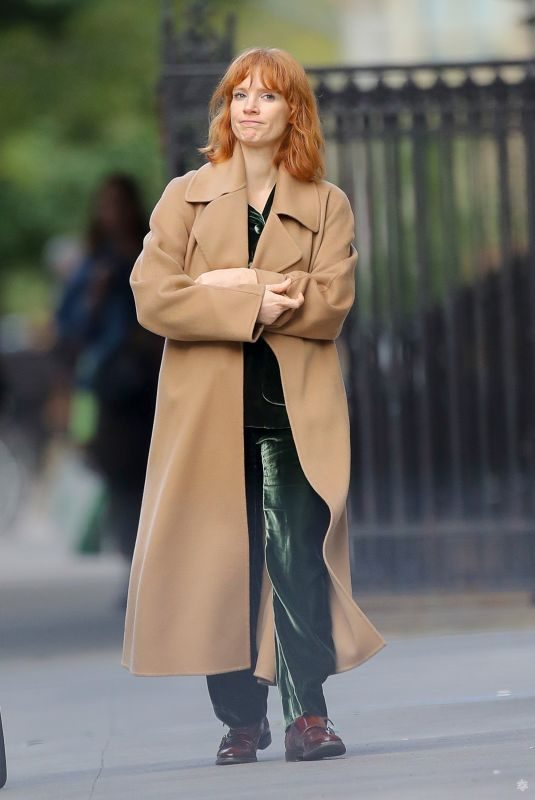 JESSICA CHASTAIN Out and About in New York 10/13/2019