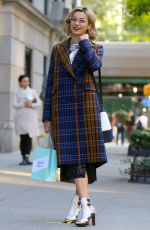 JULIA CHAN on the Set of Katy Keene in Park Avenue in New York 10/07/2019