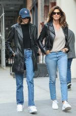 KAIA GERBER and CINDY CRAWFORD at Dr. Smood in New York 10/13/2019