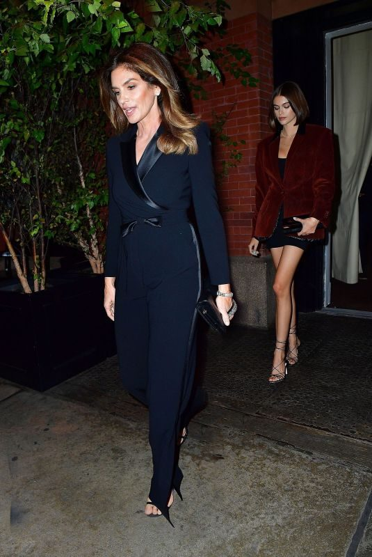 KAIA GERBER and CINDY CRAWFORD Heading to Global Lyme Alliance Gala in New York 10/10/2019