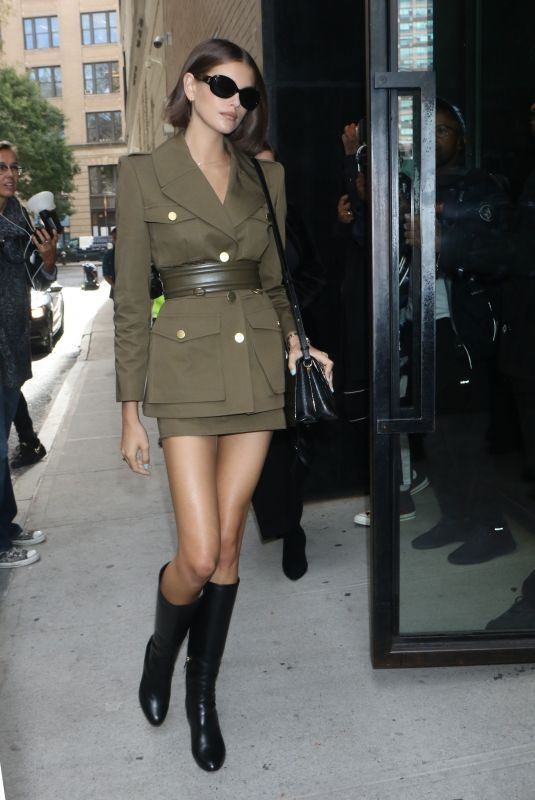KAIA GERBER Arrives at Vogue Forces of Fashion at Spring Studio in New York 10/10/2019