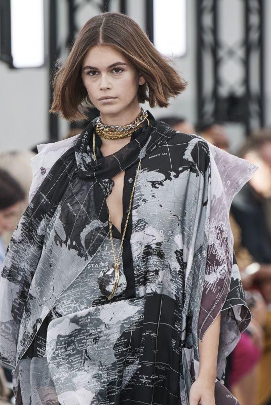 KAIA GERBER at Sacai Runway Show at Paris Fashion Week 09/30/2019