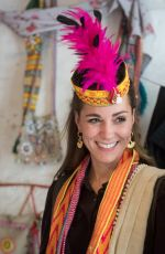 KATE MIDDLETON Visits a Settlement of Kalash People in Chitral 10/16/2019