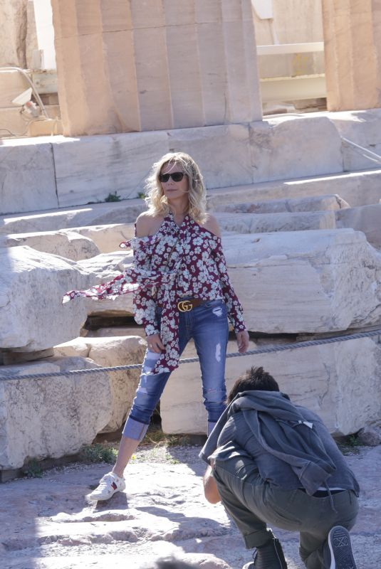 KATHERINE KELLY LANG Out in Athens 10/12/2019