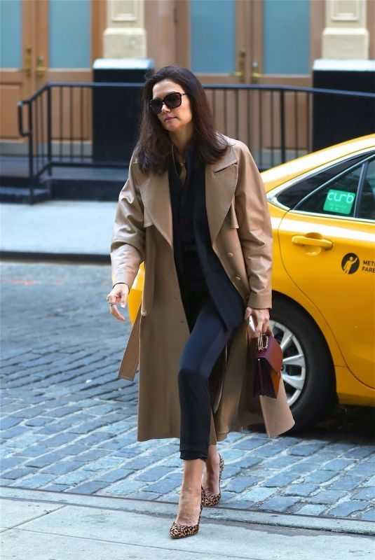 KATIE HOLMES Arrives at Crosby Hotel in New York 10/18/2019