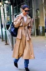 KATIE HOLMES Out and About in New York 10/21/2019