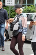 KATY PERRY Out with Her Poodle Nugget in Washington D.C. 10/13/2019