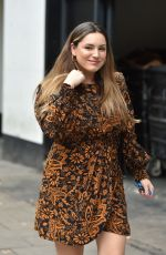 KELLY BROOK Arrives at Global Radio Studios in London 09/30/2019