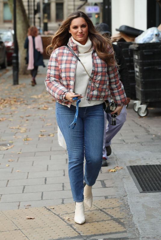 KELLY BROOK Arrives at Heart Radio Show in London 10/18/2019