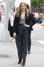 KENNEDY MCMANN Arrives at Build Series for Nancy Drew in New York 10/07/2019
