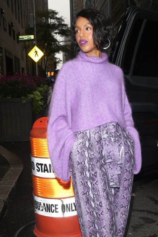 KERRY WASHINGTON Arrives at Today Show in New York 10/30/2019