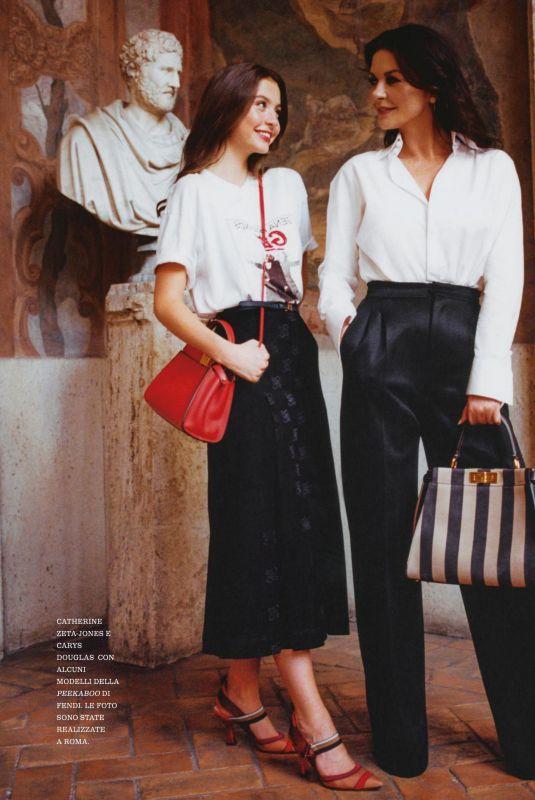 KETHERINE ZETA JONES and CARYS ZETA DOUGLAS in Grazia Magazine, Italy October 2019