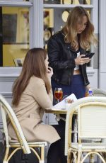 KIMBERLEY GARNER and ELLIE LYONS Out for Lunch in West London 10/08/2019