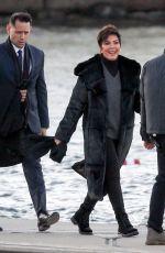 KRIS JENNER Arrives at Jennifer Lawrence