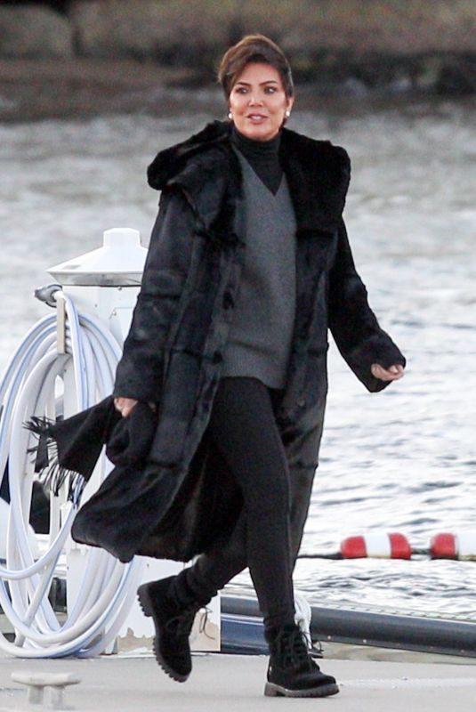 KRIS JENNER Arrives at Jennifer Lawrence's Rehearsal Dinner in Rhode Island 10/18/2019