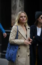 KRISTEN BELL on the Set of The Good Place at Cafe Terrace Les Deux Magots in Paris 09/30/2019