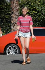 KRISTEN STEWART in Denim Cut Off Out in Los Angeles 10/12/2019