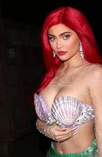 KYLIE JENNER as Ariel from The Little Mermaid at Halloween Party in Beverly Hills 10/31/2019