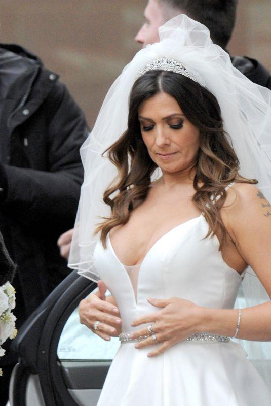 KYM MARSH and ALISON KING Filmig Wedding Scenes for Coronation Street 10/12/2019