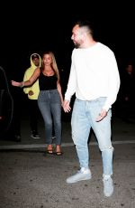LARSA PIPPEN in Tights Denim at Hyde Nightclub in Los Angeles 10/16/2019
