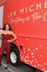 LEA MICHELE at Christmas in the City Album Promotion at Union Square in New York 10/25/2019