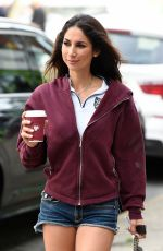 LEILANI DOWDING in Denim Shorts Out in Cheshire 10/20/2019