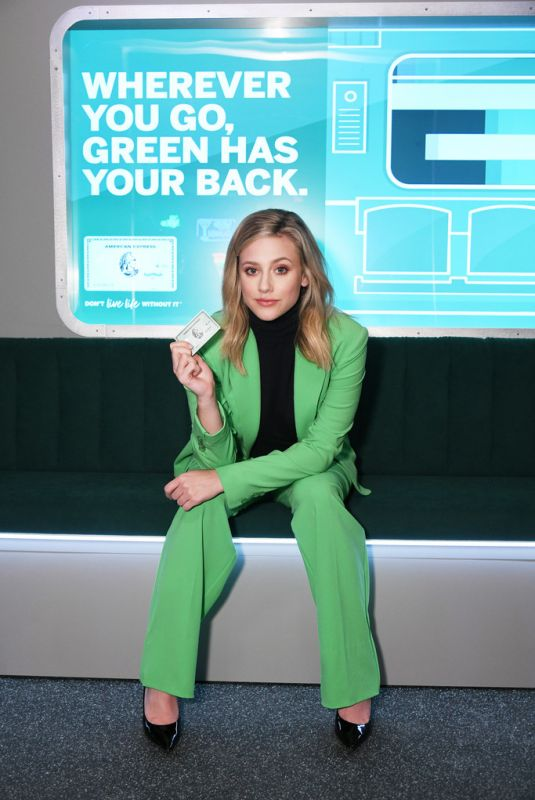LILI REINHART at Amex Celebrates Refresh of Green from Amex in Brooklyn 10/24/2019