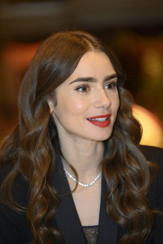 LILY COLLINS on the Set of Emily in Paris in Paris 09/27/2019