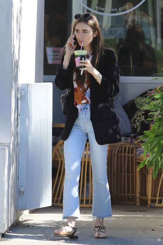 LILY COLLINS Out and About in West Hollywood 10/20/2019