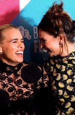 LILY JAMES and BILLIE PIPER at Rare Beasts Premiere at 63rd BFI London Film Festival 10/10/2019