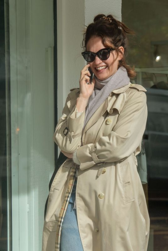 LILY JAMES Out in Ladbroke Grove in London 10/10/2019