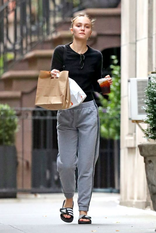 LILY-ROSE DEPP Out for Snacks in New York 10/14/2019