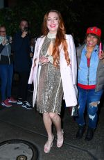 LINDSAY LOHAN Night Out in New York 10/25/2019