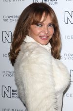 LIZZIE CUNDY at Natural History Museum Ice Rink Launch Party in London 10/22/2019
