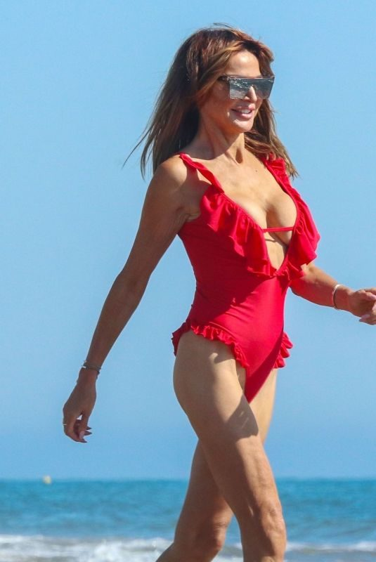 LIZZIE CUNDY in Swimsuit at a Beach in Marbella 10/06/2019