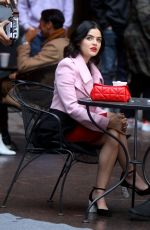 LUCY HALE on the Set of Katy Keene in New York 10/10/2019