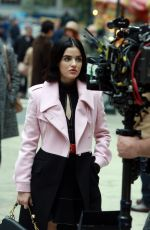 LUCY HALE on the Set of Katy Keene in New York 10/16/2019