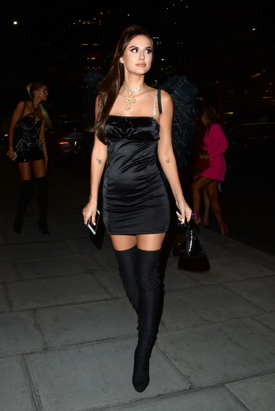 LUCY WATSON as Ariana Grande at Halloween Party at M Restaurant in London 10/25/2019