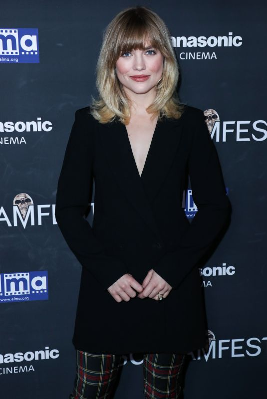 MADDIE HASSON at We Summon the Darkness Premiere at Screamfest in Los Angeles 10/17/2019