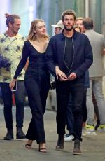 MADDISON BROWN and Liam Hemsworth Out in New York 10/11/2019