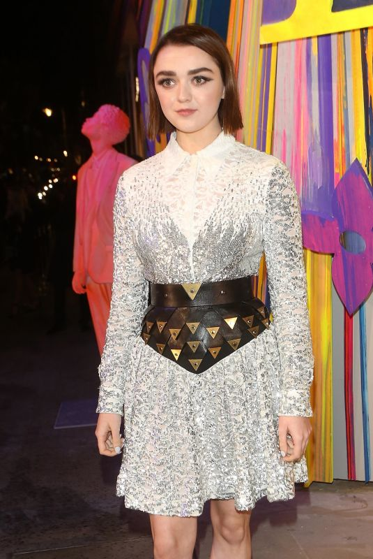 MAISIE WILLIAMS at Louis Vuitton Maison Store Launch Party in London 10/23/2019