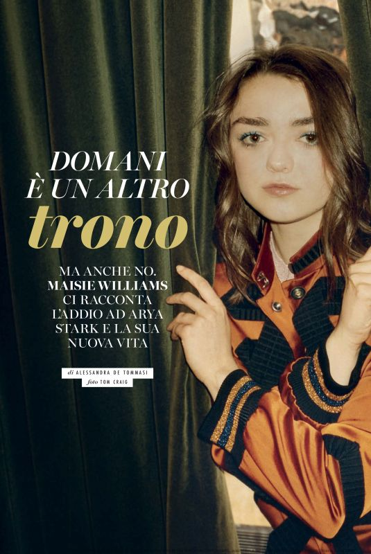MAISIE WILLIAMS in Glamour Italy, November 2019