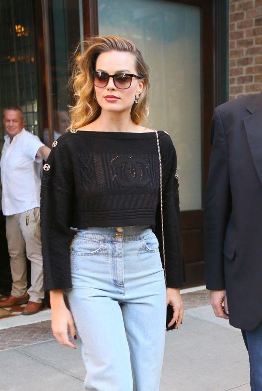 MARGOT ROBBIE Leaves Her Hotel in New York 10/05/2019